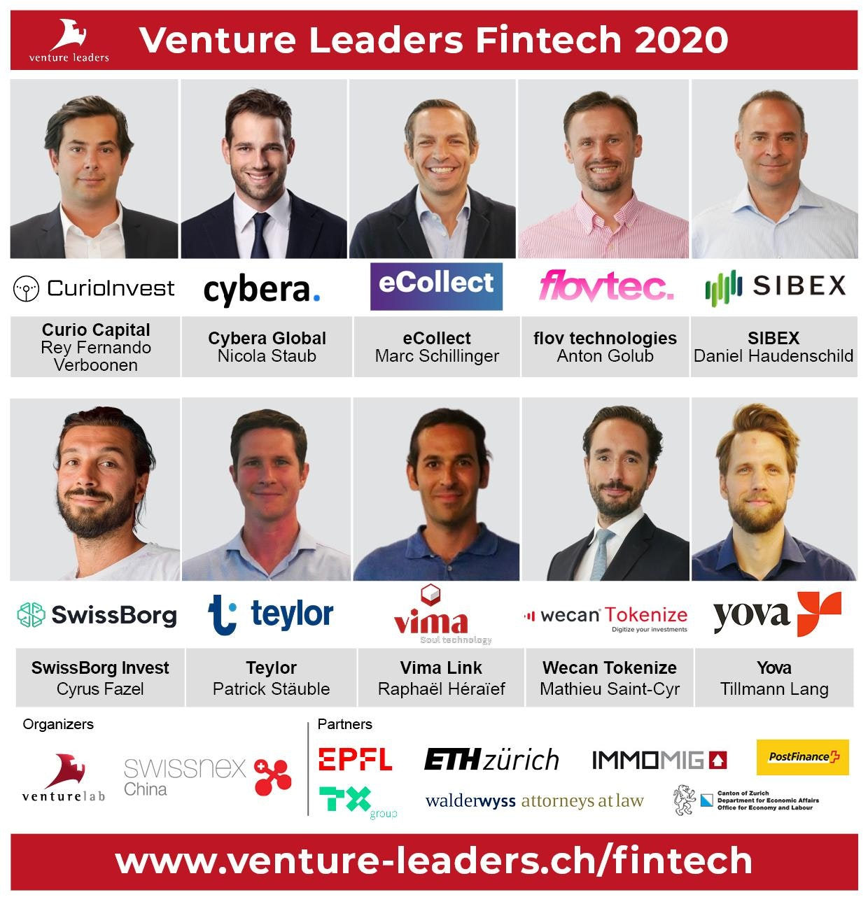 Swiss National Fintech Team 2020: 10 fintech startups get ready to accelerate their global growth with Venture Leaders